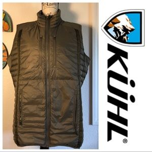 KUHL Hunter Green Down Vest Large Retail $180